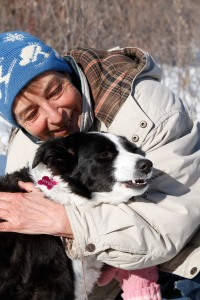 Mandy-the-border-collie-and-her-person-Irene